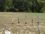 A small sample of the many rockets the scouts flew.